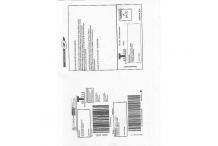 Liasse postale de retour marchandise