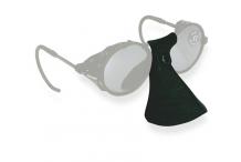 Accessoires de sport, Demetz, Protège nez cuir noir