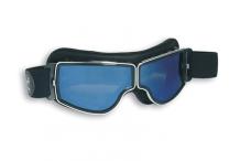Lunettes de moto, Demetz, Aviator Goggle 4182 gris miroir bleu