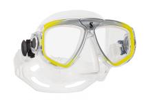 Masque de plongée, Scubapro, Zoom Evo jaune et jupe cristal