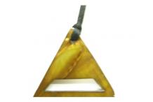 Pendentif pour lunettes nacre triangle miel