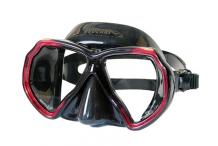 Masque de plongée, Beuchat, X contact 2 rouge sil noir