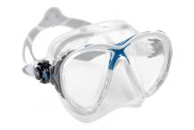 Masque de plongée, Cressi Sub, Big eyes evo crystal bleu et blanc