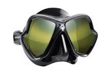 Masque de plongée, Mares, Ultra Liquid skin noir miroir doré