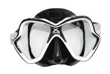 Masque de plongée, Mares, Liquid skin noir et blanc