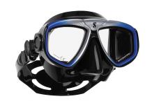 Masque de plongée, Scubapro, Zoom Evo bleu et jupe noire