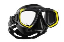 Masque de plongée, Scubapro, Zoom Evo jaune et jupe noire