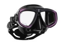 Masque de plongée, Scubapro, Zoom Evo mauve et jupe noire