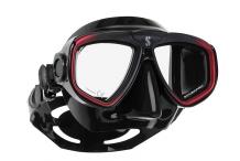 Masque de plongée, Scubapro, Zoom Evo rouge et jupe noire