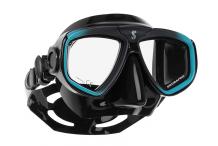 Masque de plongée, Scubapro, Zoom Evo turquoise et jupe noire