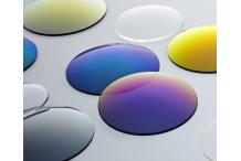 Paire de verres, solaires, organiques, unifocaux, base 4, couleur GRIS