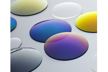 Paire de verres, solaires, organiques, unifocaux, base 6, couleur BRUN